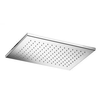 Hotbath Mate opbouw hoofddouche rechthoekig 26x39 cm, geborsteld nikkel