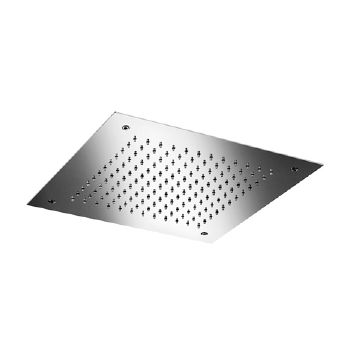 Hotbath Mate hoofddouche met LEDs vierkant 38 cm, geborsteld nikkel