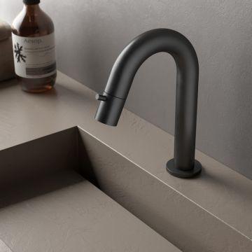 Hotbath Cobber 1-hendel fonteinkraan, mat zwart