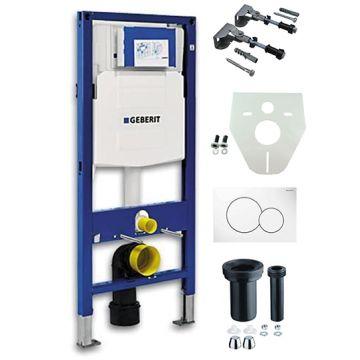 Geberit UP320 inbouwreservoir met Sigma01 bedieningspaneel, wit