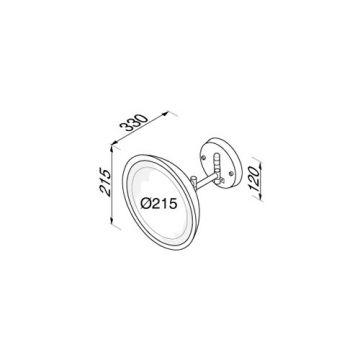 Geesa Cosmetic collection scheerspiegel 2-arm led, zwart