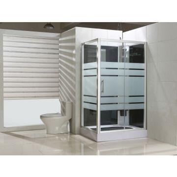 Sub complete douchecabine met schuifdeur rechts 120x90x218 cm, aluminium/glas