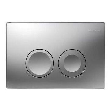 Geberit Delta21 bedieningspaneel 2-knops frontbediening, mat chroom