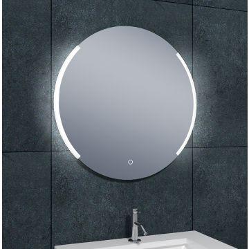 Wiesbaden Round dimbare, ronde spiegel met led-verlichting en verwarming 80 cm