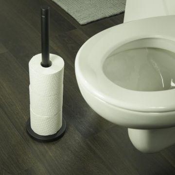 Tiger Bold toiletrolhouder 14,9x14,9x50,9 cm, zwart