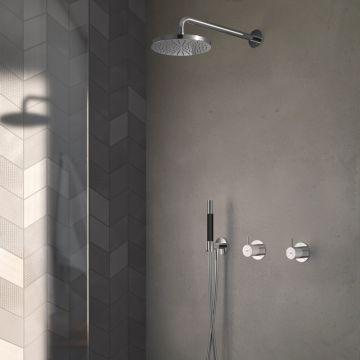 Hotbath Cobber complete douche-inbouwset met inbouw douchemengkraan en 2-weg-omstel, chroom