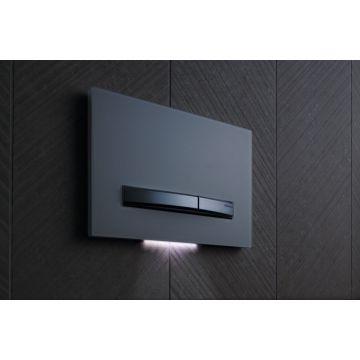 Geberit DuoFresh module met geurzuivering, toiletstickhouder en oriëntatielicht, automatische activering, geschikt voor Sigma 12 cm, antracietgrijs