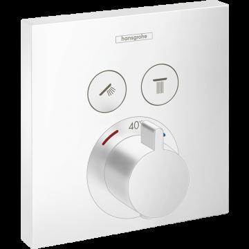 Hansgrohe ShowerSelect afdekset inbouwthermostaat met 2 functies, mat wit