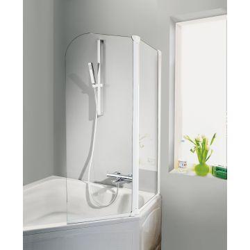 HSK Favorit badwand 3-delig veiligheidsglas 125x140cm, wit