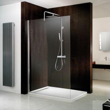 HSK Walk In Atelier inloopdouche Edelglas 140x200cm, chroom