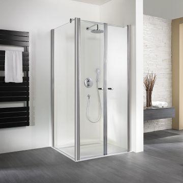 HSK Exklusiv pendeldeur voor zijwand (excl.) veiligheidsglas 90x200cm, alu zilver-mat
