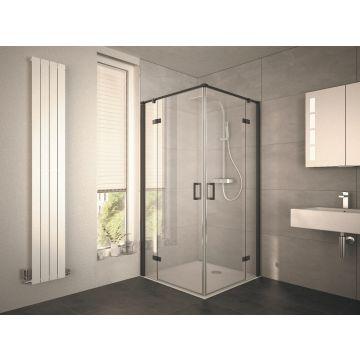 HSK Atelier Plan hoekinstap, draaideur 4-delig, 90x90x200cm, zwart-mat