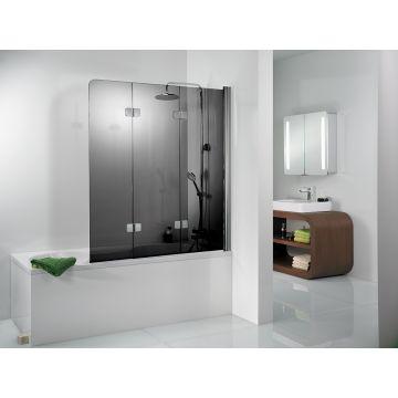 HSK Premium Softcube badwand Edelglas montagezijde rechts 114x140cm, chroom