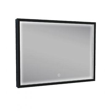 Wiesbaden Maro spiegel met led-verlichting en verwarming 70 x 50 cm, mat zwart