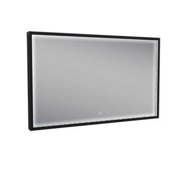 Wiesbaden Maro spiegel met led-verlichting en verwarming 100 x 60 cm, mat zwart