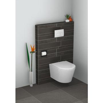 Sub inbouw toiletrolhouder, mat zwart