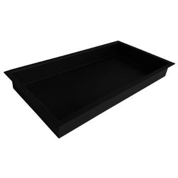 Wiesbaden inbouwnis 30 x 60 x 7 cm, mat zwart