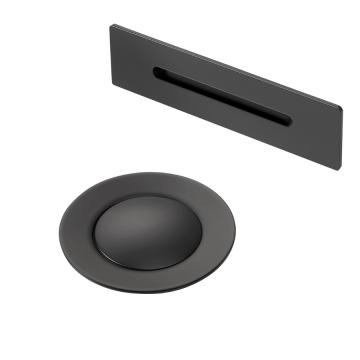 Sub 016 kleurset voor afvoer/overloop bad mat zwart, mat zwart