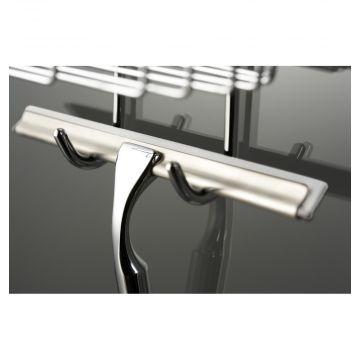 HSK Comfort glaswisser 40 cm inclusief wandhouder, verpakking 5 stuks, chroom