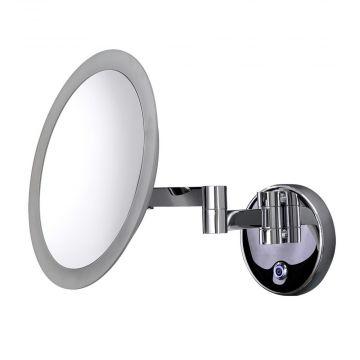 HSK make-up spiegel rond wandmodel, voor netaansluiting, chroom
