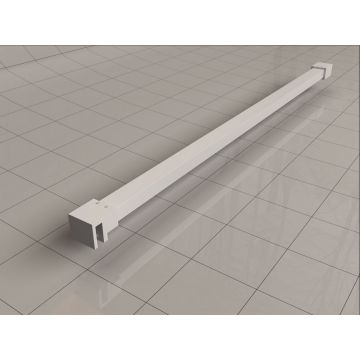 Sub Slim stabilisatiestang inclusief muur- en glaskoppeling 120 cm, wit