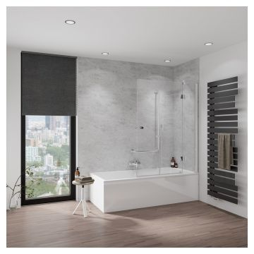 HSK Aperto badwand, pendelbaar, 3-delig, montagezijde rechts, 90x150 centimeter