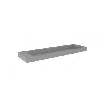 Sub 16 meubelwastafel met 2 kraangaten 140 x 45 cm, quartz beton