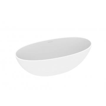Sub 192 ovaal vrijstaand bad 180 x 80 x 60 cm, mat wit