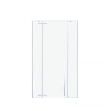 Sub 64 draaideur met 2 vaste panelen 160 x 200 cm, chroom-grijs