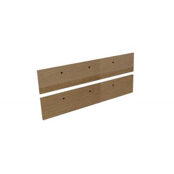 Sub 16 frontenset voor grepen 120 x 26 cm, hout eiken