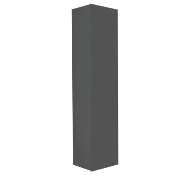 Sub 16 hoge kast met 1 deur voorbereid voor handgreep 169 x 35 cm, antraciet