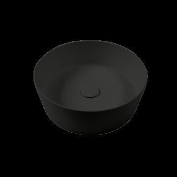 Sub 065 opzetwastafel conisch 44 x 15,5 cm, mat zwart