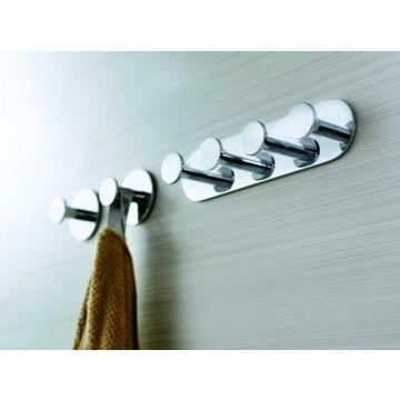 Sub 156 handdoekhaak met schroefloze 3m bevestiging chroom, chroom