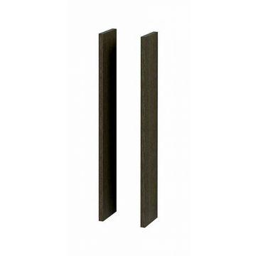 Sub 16 set zijpanelen tbv spiegelkast 14x74cm essen grijs, essen grijs