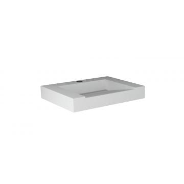 Sub 16 meubelwastafel met kraangat zonder overloop 60 x 45 cm, mat wit