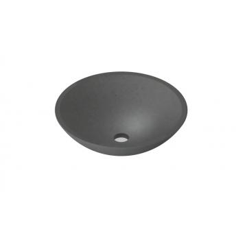 Sub 16 ronde opzetwastafel 40 cm, quartz beton