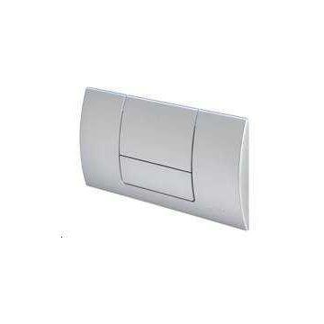 Sub 157 bedieningsplaat 2-knops frontbediening mat chroom, mat chroom