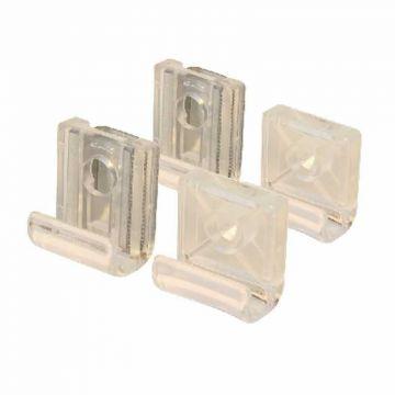 Sub 016 spiegel klemmen licht model/transparant 4 st, nylon
