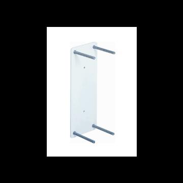 Linido contraplaat rechthoekig voor opklapbare toiletbeugel, rvs gecoat wit