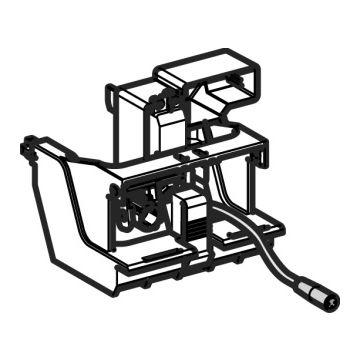 Geberit elektronisch hefmechanisme 12 cm voor Sigma80, servomotor infrarood