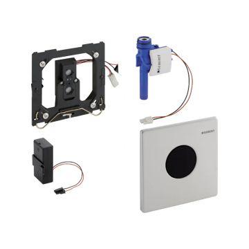 Geberit HyTronic urinoirspoelsysteem infrarood batterijvoeding met bedieningsplaat Mambo, RVS