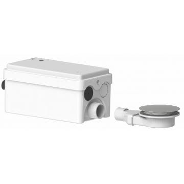 SANIBROYEUR SANIDOUCHE® Flat vuilwaterpomp met sifon voor douchebak, wit