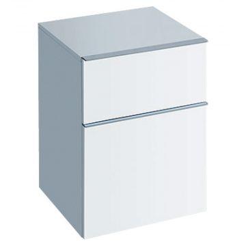 Geberit iCon halfhoge kast 2 laden 45x60 cm, glans wit