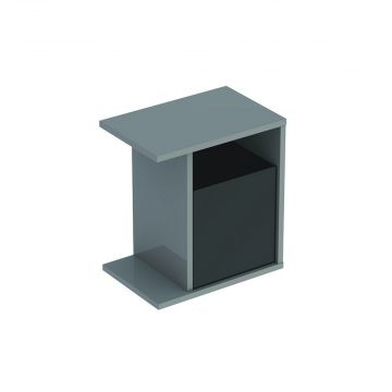 Geberit iCon zijelement met opbergbox 37 cm, platina