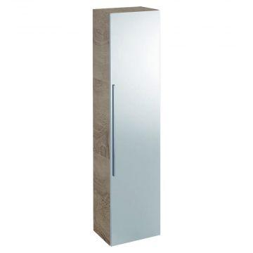Geberit iCon hoge kast 1 deur met spiegel 150 cm, eiken naturel