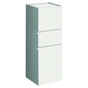 Geberit Renova plan halfhoge kast 2 deuren met 1 lade 105 cm, glans wit