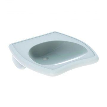 Geberit 300 comfort wastafel 55 cm 1 kraangat zonder overloop, wit