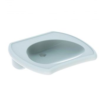 Geberit 300 comfort wastafel 65 cm 1 kraangat zonder overloop, met uitsparing, wit