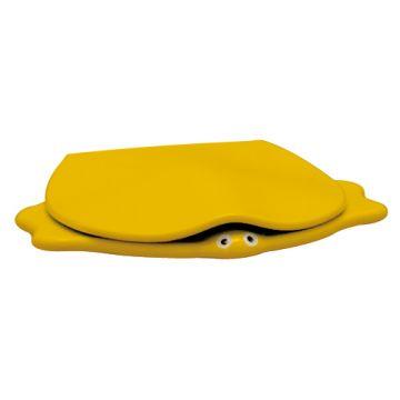Geberit 300 Kids closetzitting schildpad met deksel, geel