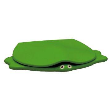 Geberit 300 Kids closetzitting schildpad met deksel, groen
